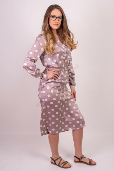 LOVE&DIVINE női ruha, kellemes lila, fehér színvilággal, LOVE320-1 modell