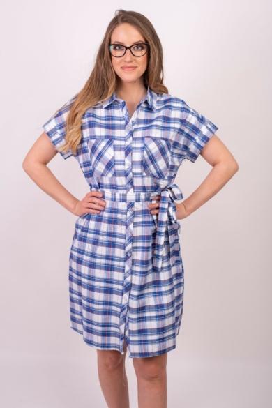 SISTERS POINT női ruha, kellemes krém, kék színvilággal, GABLES modell