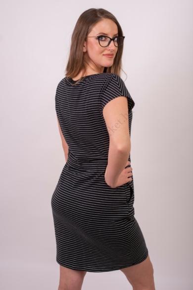 VERO MODA női ruha, kellemes fekete csíkos színvilággal, 10198244 modell
