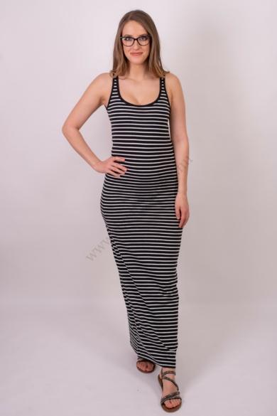 VERO MODA női maxi ruha, kellemes kék fehér csíkos színvilággal, 10108209 modell