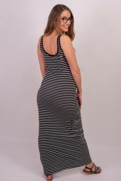 VERO MODA női maxi ruha, kellemes fekete fehér csíkos színvilággal, 10108209 modell