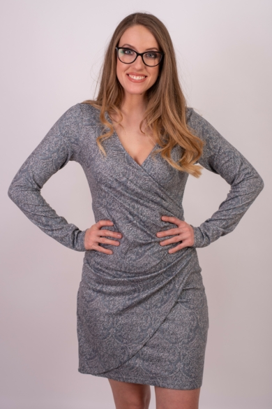 SMASH! női hosszú ujjú szürke ruha (S)