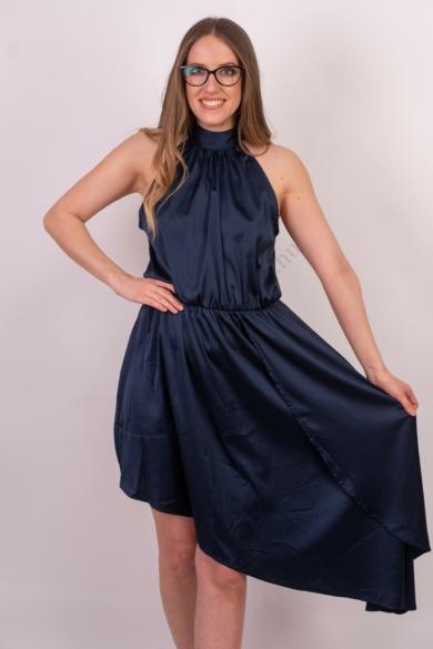 SISTERS POINT női elegáns ruha, kellemes sötétkék színvilággal, NALDO-DR modell