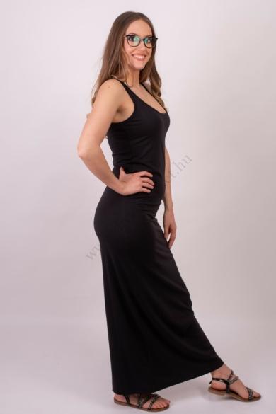 VERO MODA női maxi ruha, kellemes fekete színvilággal, 10108209 modell