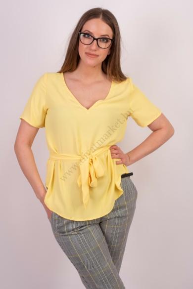 SISTERS POINT női felső/blúz, kellemes sárga színvilággal, NEW-ESSU-T modell,
