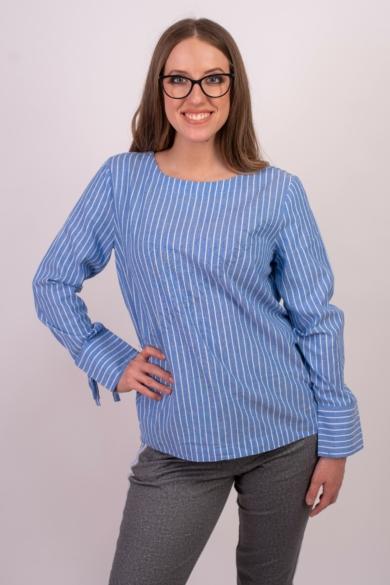 SISTERS POINT női felső/blúz, kellemes kék csíkos színvilággal, IDORA-SH modell