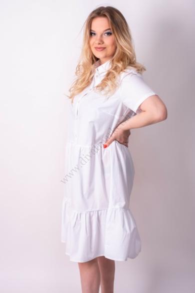 LOVE&DIVINE női ingruha/tunika, kellemes fehér színvilággal, LOVE335 modell,