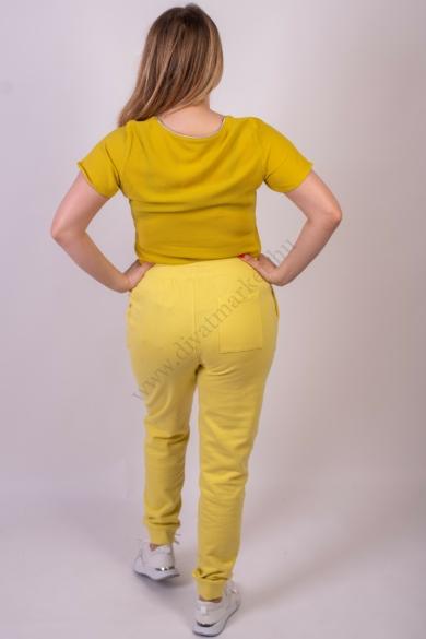 SISTERS POINT női hosszúnadrág, kellemes sárga színvilággal, HILA-PA modell,