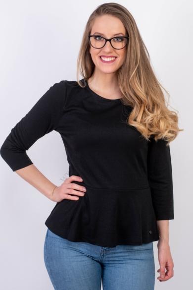 TOM TAILOR női peplum felső, fekete színvilággal, 1008633.XX.71 modell