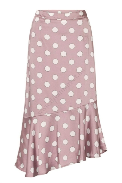 LOVE&DIVINE női szoknya, kellemes lila pöttyös színvilággal, LOVE318-1 modell
