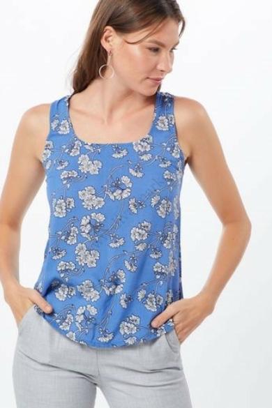 SISTERS POINT női felső/blúz, kellemes kék virágos színvilággal, EPIC-22 modell,
