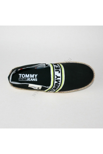 TOMMY HILFIGER férfi espadrilles cipő-fekete (több méretben)